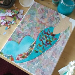 Mermaid Art in Progress Scales