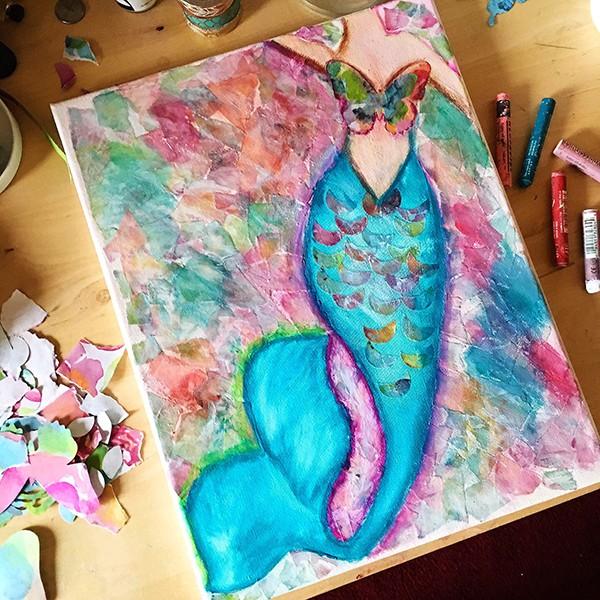 Mermaid Canvas Art