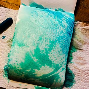 Watercolor Crayons Texture