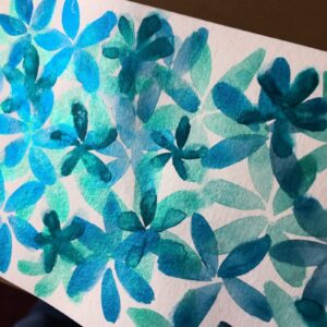 Blue Flower Garden Sparkles