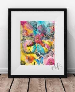 Butterfly Print Framed