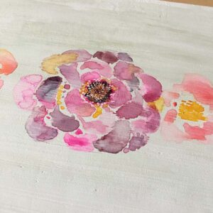 Watercolor Floral Process