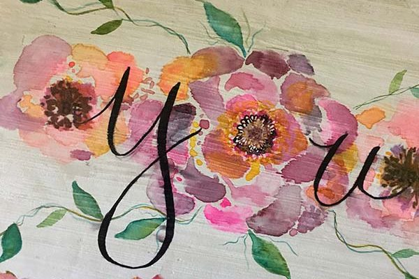 Watercolor Florals and Lettering