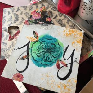 Joy Mixed Media Art