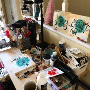 Messy Art Desk