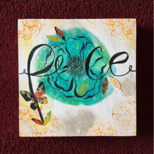 Peace Mixed Media Art