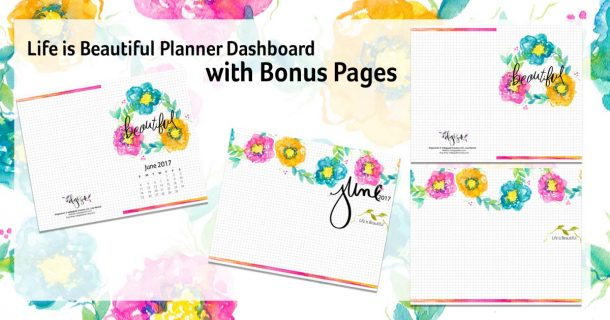 Life is Beautiful Planner Page