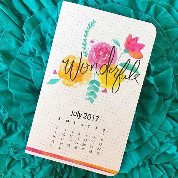 Make it Wonderful Planner Page