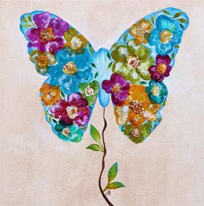Butterfly Bloom Painting