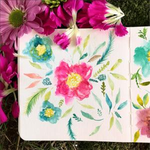 Floral Explosion Sketchbook