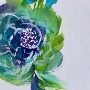 Look at the glittery goodness in this flower. Shimmer created by Prima's Metallic Watercolor set