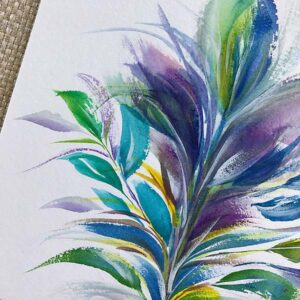 Oh feather tree, how I love thee. Those brush strokes, though, right? Who's with me?