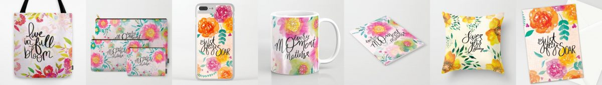 Here is a sampling of products in my Society6 shop.