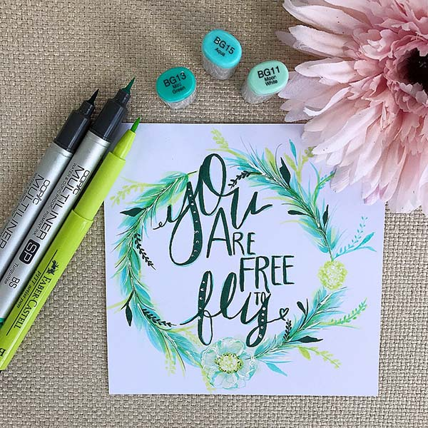 """I was inspired to illustrate this sentiment after reading Beth Kempton's new book """"Freedom Seeker."""" A must read for flying."""