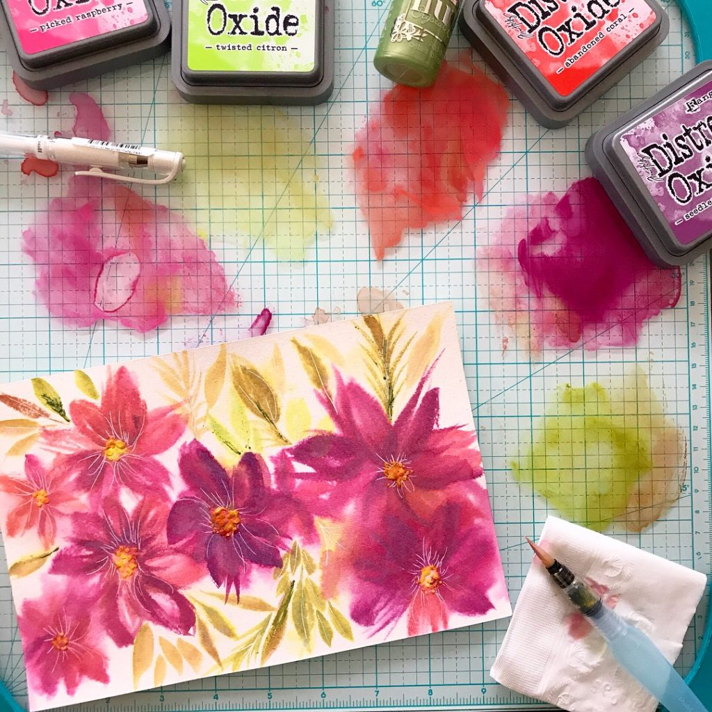 Painting with Distress Oxide Inks