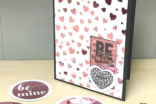 Be My Valentine Foil Mates Card