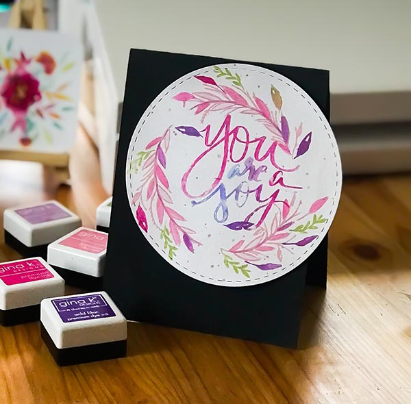You are a Joy Watercolor Card