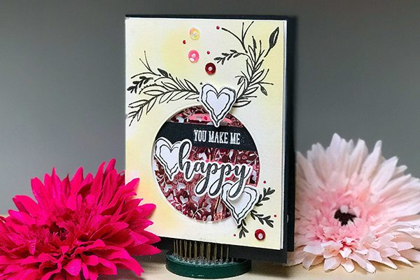 You Make Me Happy Whimsical Card