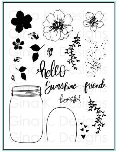 Hello Beautiful Stamp Set with Gina K Designs