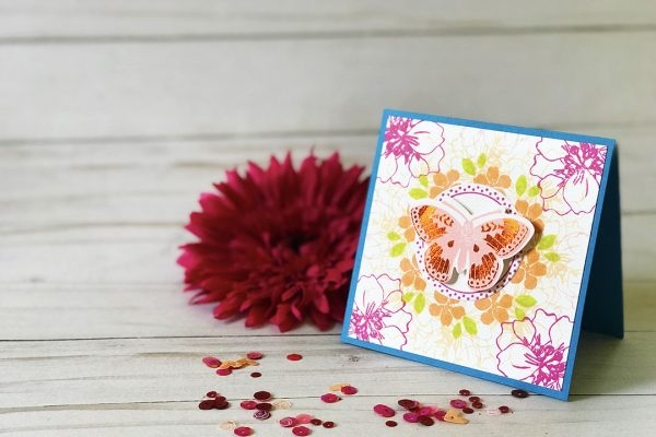 Butterfly Wreath Builder Card