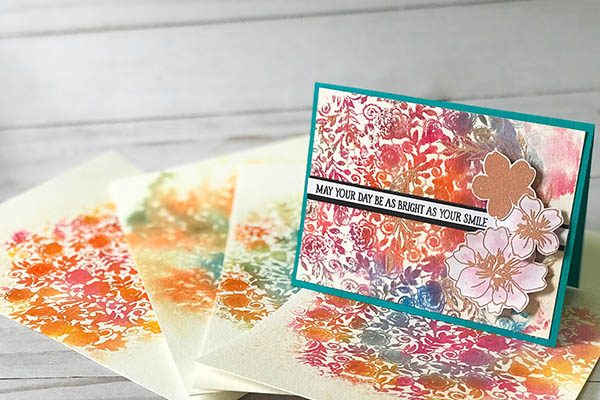 Watercolor Background Stamping