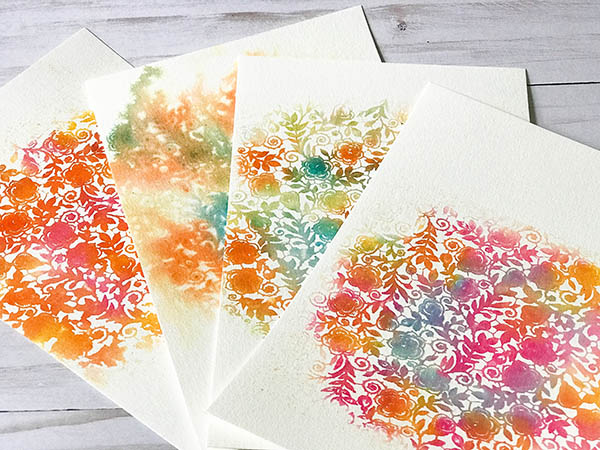 Watercolor Patterned Paper Backgrounds