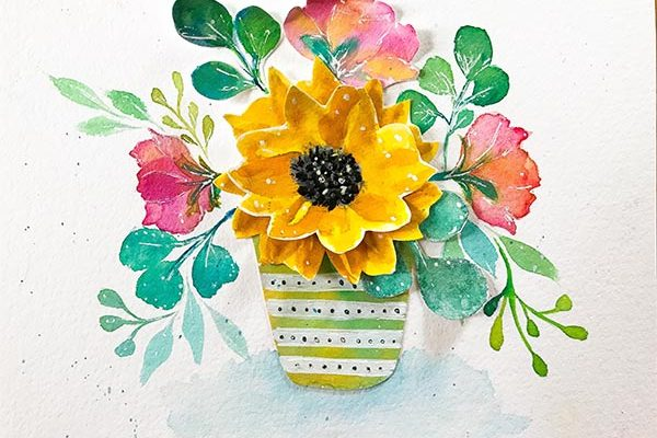 3D Paper Art Sunflower