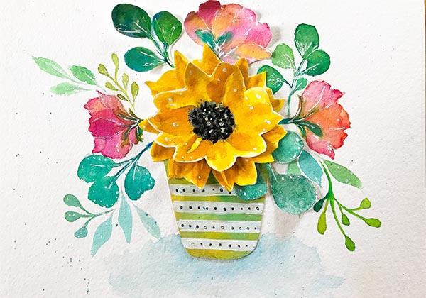 3D Paper Art Sunflower