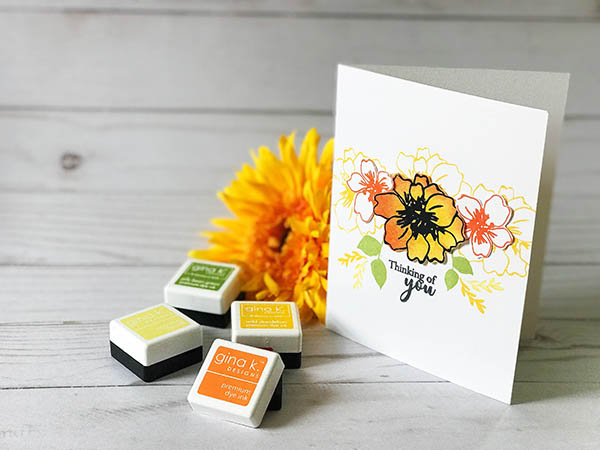 Sunflower Inspired Simple Card Design