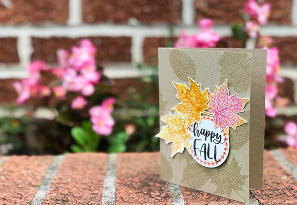 Happy Fall Skeleton Leaves