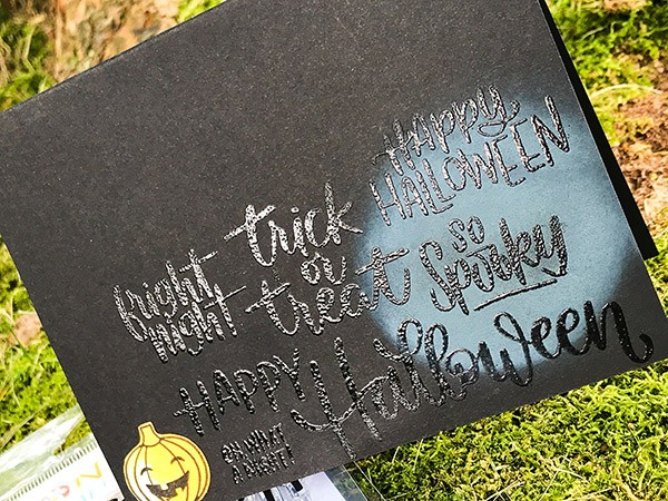 Handlettered Halloween Card Project