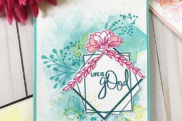 Life is Good from the Something Good in Everyday Stamp Set with Gina K Designs