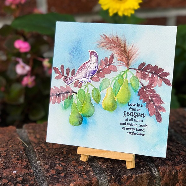 Fruit of the Season Stamp set by Gina K Designs.