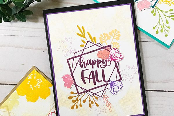 Happy Fall Card Design