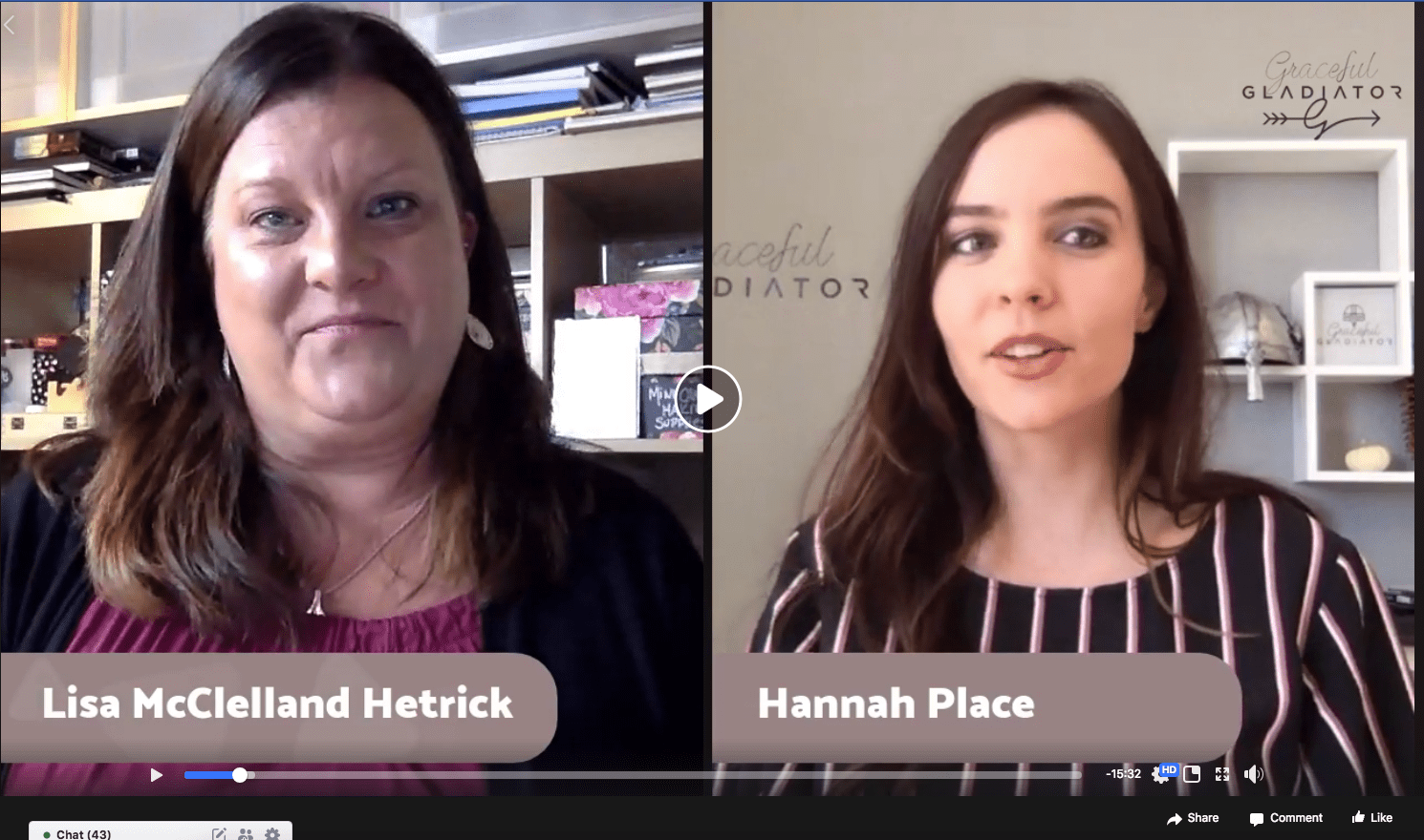 Facebook Live Interview with Hannah Place Graceful Gladiator