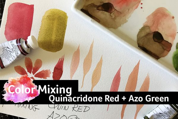 Image for color mixing Quinacridone Red and Azo Green