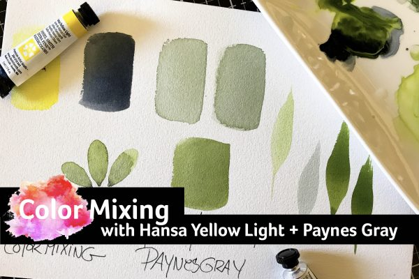 Color Mixing with Hansa Yellow Light and Paynes Gray