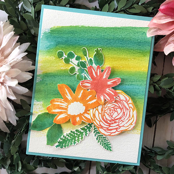 Watercolor Floral Stamping