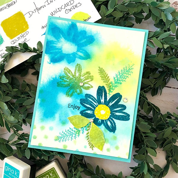 Watercolor Stamping Flowy Florals