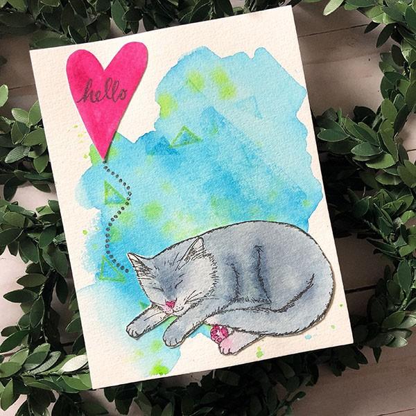 Melanie Muenchinger Cat Card