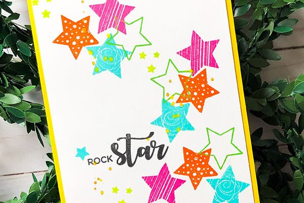 Rock Start Card Design
