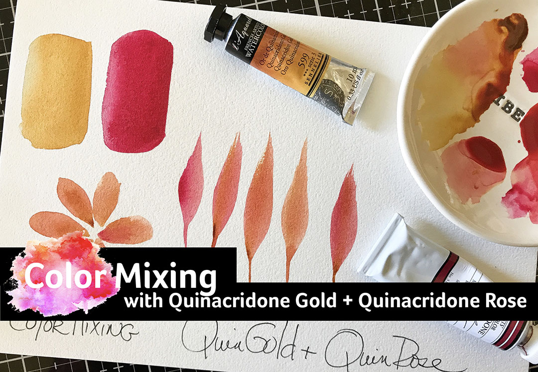 Quinacridone Gold and Rose
