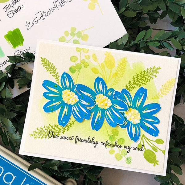 Graphic Stamping with Pops of Watercolor