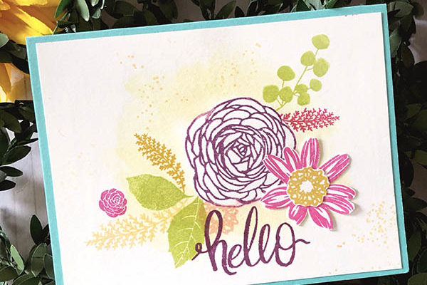 Stamping Masked Bouquets