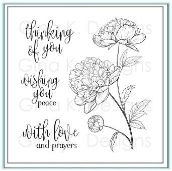 Peaceful Florals Stamp set by Gina K Designs