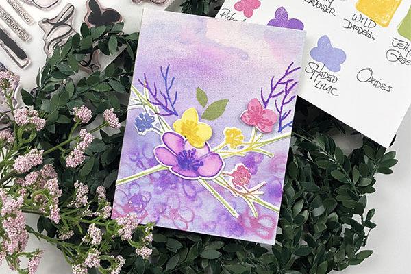 Spring Watercolor Florals Card Tutorial