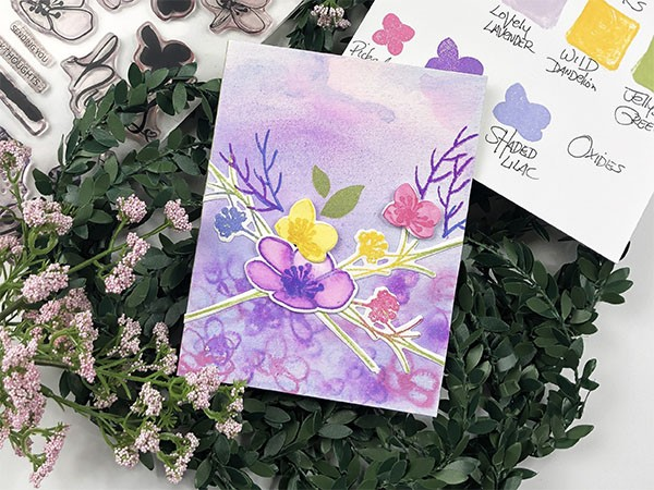 Spring Watercolor Florals Card Tutorial