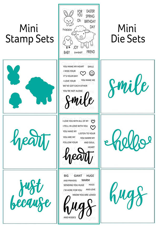 Mini stamps sets and dies