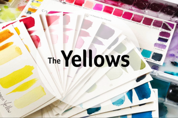 Mixed Brand Watercolor Palette Yellows
