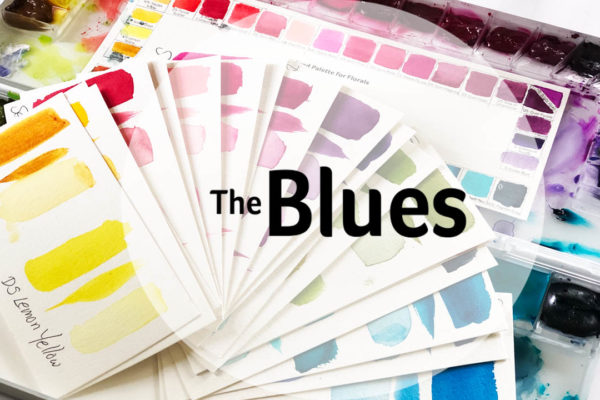 Watercolor Palette the Blues